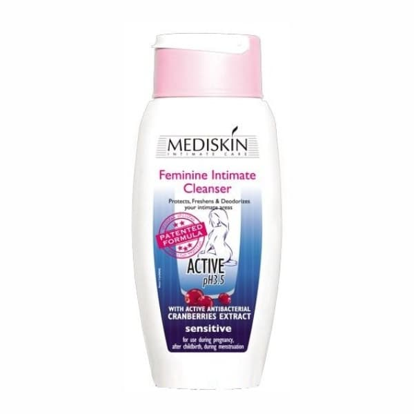 Feminine Intimate Cleanser Active for Use During Menstruation Pregnancy and After Childbirth