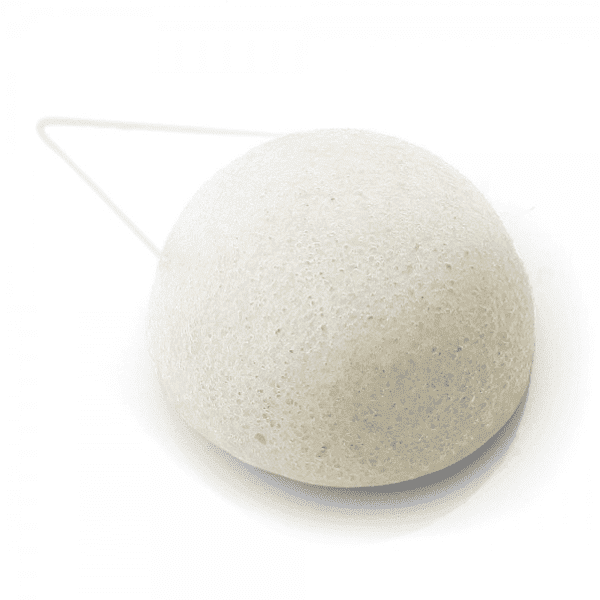 Silk Collagen AntiAge Konjac Sponge for Mature Skin White Half Ball
