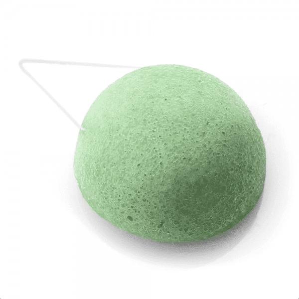 Aloe Comfort Konjac Sponge for Sensitive and Dry Skin Green Half Ball