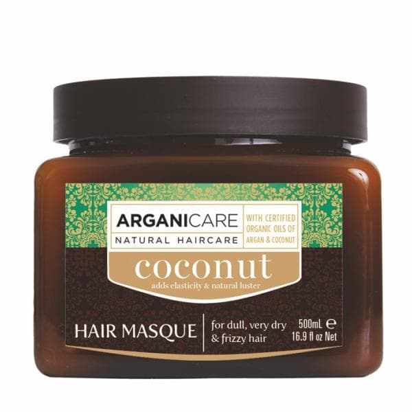 Coconut Hair Masque for Dull Very Dry  Frizzy Hair with Argan and Coconut Oil