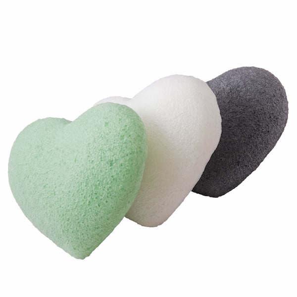Silk Collagen AntiAge Konjac Sponge for Mature Skin White