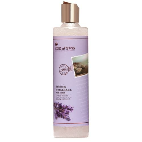 Exfoliating Shower Gel With Loofah Lavender Blossom