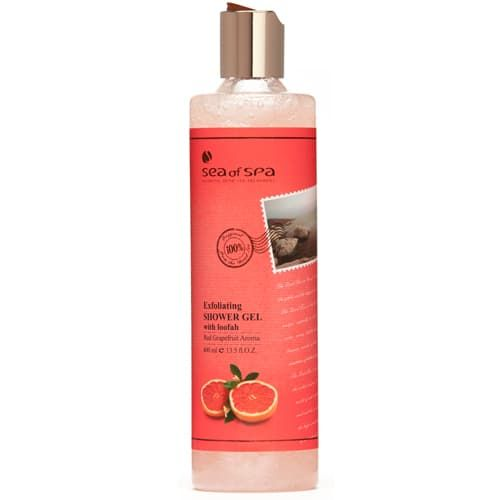 Exfoliating Shower Gel With Loofah Red Grapefruit