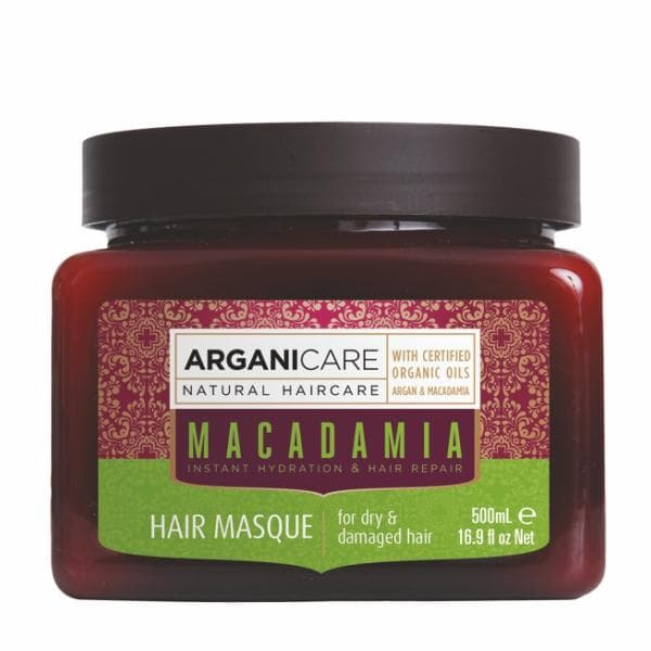 Macadamia Hair Masque for Dry  Damaged Hair with Argan and Macadamia Oils
